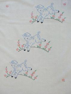 Sweet little lambs coverlet