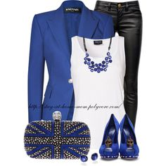 """Studded Pumps & Clutch"" by stay-at-home-mom on Polyvore"
