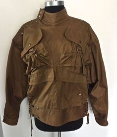 Vintage KANSAI YAMAMOTO Men's Flight Bomber Jacket Mint Condition #KansaiYamaoto #FlightBomber