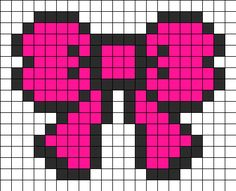 Bow Perler Bead Pattern | Bead Sprites | Misc Fuse Bead Patterns
