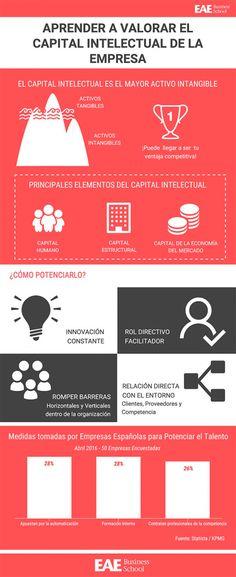 Infografía descriptiva sobre el capital intelectual de una empresa y por qué todos los directivos de empresas deberían tener este tipo de activo muy en cuenta.