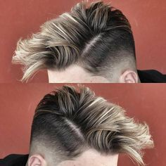 If you are looking for the latest trend hairstyles for yourself, skin fade haircuts may be the best choice for you. The skin fade haircut, also known Hair And Beard Styles, Short Hair Styles, Men Blonde Hair, Mens Hair Colour, Slicked Back Hair, Trending Haircuts, Trendy Hairstyles, Popular Hairstyles, Hairstyles Haircuts