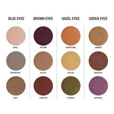 Arbonne, base color slate (cool) and fog (warm) Gorgeous Eyes, Gorgeous Makeup, Beautiful, Makeup Dupes, Beauty Makeup, Makeup Inspo, Eye Color Chart, Arbonne Makeup, Makeup Tattoos