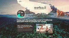 Surfca.li Website | #web #webdesign #design #website