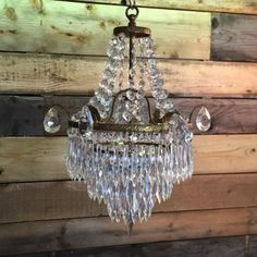 Vintage French chandlier glass shade. #RubyWatts #Vintage #Sussex #Lighting #LightingDesign #Wallights #Lamps #Quality #Crystal #CrystalChandelier