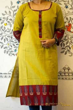 Nb Churidar Designs, Kurta Designs Women, Golden Blouse Designs, African Fashion Dresses, Fashion Outfits, Kurta Patterns, Simple Kurti Designs, Kurta Neck Design, Kids Frocks Design