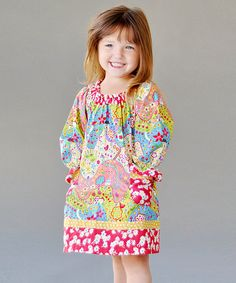 Take a look at this Pink Willow Grove Peasant Dress - Infant, Toddler & Girls by Jelly the Pug on #zulily today!