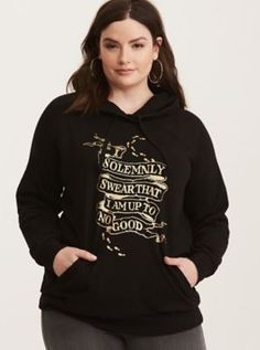 Harry Potter Marauder's Map Graphic Hoodie in Black