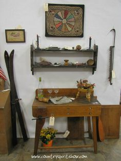You'd never know the Stone Barn Antiques booth was created by a relative rookie, Linda Green