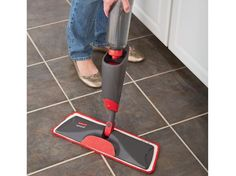 Reveal a better way to clean with the Rubbermaid Reveal Spray mop: the washable and reusable microfiber pad, refillable bottle and non-scratch scrubber help you save more and waste less.
