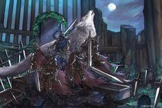 Dark Souls,фэндомы,Dark Souls 3,DS art,Artorias The Abysswalker,DS персонажи,Great Grey Wolf Sif,Abyss Watchers,DSIII персонажи