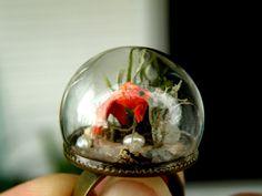 Goldfish Glass Globe Ring by ThePurpleArtichoke7 on Etsy, €16.00