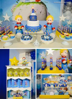 The Little Prince Prince Birthday Theme, Boy Birthday Parties, Little Prince Party, The Little Prince, Baby Party, Baby Shower Parties, Art Festa, Prince Cake, Childrens Party