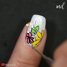 Get yourself the perfect manicure for today! Nail Art Designs Videos, Nail Design Video, Nail Art Videos, Nail Designs, Great Nails, Simple Nails, Jolie Nail Art, Indigo Nails, Grunge Nails