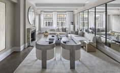 We preach the power of mirrors all the time (we know!). But look how they do wonders for this #ParkAvenue living space. This gorg apartment…