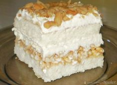 Polish Desserts, Polish Recipes, Sweets Recipes, Cake Recipes, Cooking Recipes, Eclairs, Delicious Desserts, Yummy Food, Cake Bars
