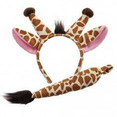 f5627221458 Animal Ears   Tail Set - Giraffe Kids Fancy Dress