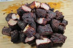 Complete instructions and step by step pictures for pork burnt ends. They are to die for and injecting them with spicy butter puts them over the top in flavor. Pork Burnt Ends, Smoked Pork, Bbq Grill, Grilling, Summer Bbq, Smoking Meat, Brisket, Coleslaw, Pulled Pork