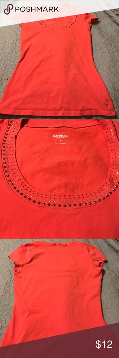 Express Tee Used but good condition! Slightly faded, all rhinestones are intact. Stretchy material. Express Tops Tees - Short Sleeve