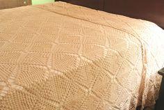 Vintage Hand-Crocheted Bedspread Ecru Queen Size by RiversideMills Bedspread, Queen Size, Hand Crochet, Vintage, Home, Quilt Cover, Ad Home, Bedspreads, Vintage Comics