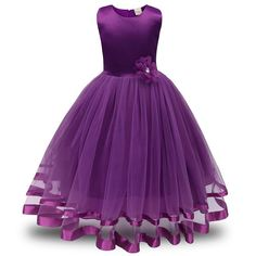best=Girls Dress GoodLock Flower Girl Princess Bridesmaid Pageant Tutu Tulle Gown Party Wedding Dress Purple , Looking for that Perfect Prom Dress? Wedding Dresses For Girls, Little Girl Dresses, Girls Dresses, Party Dresses, Tulle Gown, Flower Dresses, Satin Dresses, Baby Dress, Dress Girl