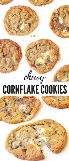 Chewy Cornflake Marshmallow Cookies - Sweetest Menu