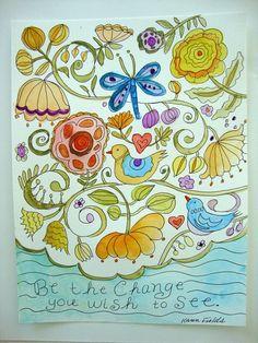 Dragonfly Art Watercolor Painting Sketch by karenfieldsgallery, $25.00