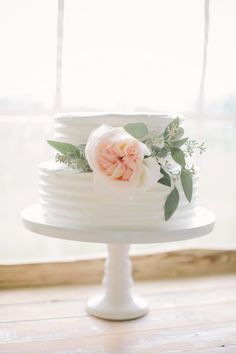 Sweet wedding cake: http://www.stylemepretty.com/canada-weddings/alberta/calgary/2015/04/15/whimsical-pastel-summer-wedding/ | Photography: Heart & Sparrow - http://www.heartandsparrow.com/