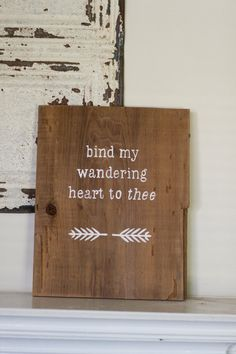 Rustic Come Thou Fount of Every Blessing Wall Hanging by AceAvenue