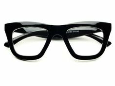 Vintage Retro Style Clear Lens Thick Framed Cat Eye Wayfarer Glasses (Black) by Vintage. $9.95. 100% 400UV Protection. Frame Width:  140mm. Trendy Look. Frame Height: 50mm. Thick Frame. Vintage style, clear lens square cat eye glasses in thick black or tortoise frame. Great quality. Perfect for any occasion!. Save 67% Off!