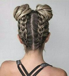 Double Tresses Easy Updo Hairstyles, Teen Hairstyles, Hair Updo, Straight Hairstyles, Holiday Hairstyles, Hairstyle Ideas, Spring Hairstyles, Creative Hairstyles, Trending Hairstyles