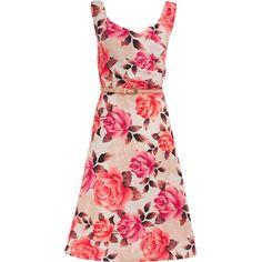"""""""S.L. Fashions"""" White & Pink Floral Print Dress - TK Maxx"""