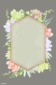Frame Template, Templates, Succulents Wallpaper, Succulent Frame, Boarder Designs, Cool Art Projects, Oval Frame, Card Box Wedding, Flower Frame