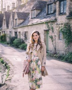 Early morning in Bibury over on galmeetsglam.com today. The village looks like…