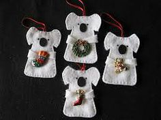 australian felt christmas decorations patterns - Google Search                                                                                                                                                                                 More