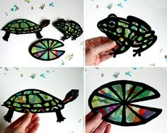 This cool kids activity brings nature inside. Its awesome to watch the kids hang up their shapes and see the sun shine up the colors. Kids of all