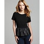 FRENCH CONNECTION Top - Fast Jacinda Jersey Peplum