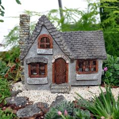 solar mill house www teeliesfairygarden com a harvest fairy will rh pinterest co uk fairy cottages outdoor hypertufa fairy garden cottages