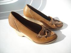 Vintage Librarian Wedge Heel by Baxtervintage on Etsy, $32.00