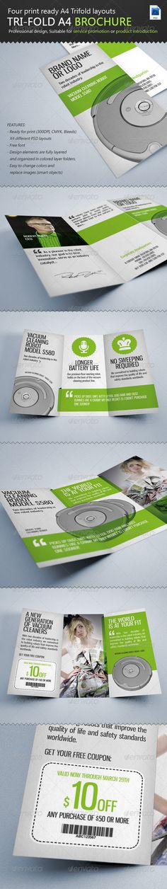 Service / Product Tri-Fold A4 PSD Brochure  Template • Only available here ➝ http://graphicriver.net/item/service-product-trifold-a4-brochure/2411670?ref=pxcr