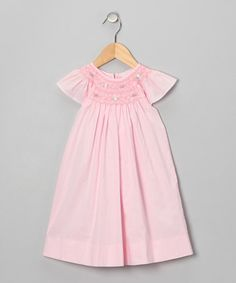 Take a look at this Pink Flower Angel-Sleeve Dress & Bloomers - Infant & Toddler by Fantaisie Kids on #zulily today!
