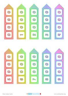 SEN Teacher ⋆ Mathematics Printables Printable Cards, Printables, Place Value Cards, Math Websites, Place Values, Math Resources, Maths, Mathematics, Teacher