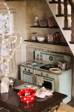 Cinderella Moments: La Maison de Campagne Custom Dollhouse (jt-love that vintage cooker)