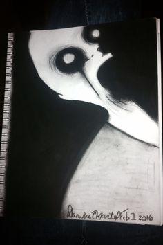 #scary #charcoal #drawing #insane #asylum #uncanny #psychopath Creepy Drawings, Insane Asylum, Sketchbook Ideas, Charcoal Drawing, Psychopath, Dark Art, Scary, My Arts, Batman