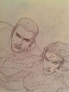 Here's a little taste of the great Doug Mahnke in the June issue of Supes/WW 18 coming in June! #Superman/WonderWoman