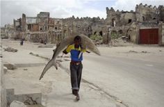 World Press Photo Prize Daily Life Single Omar Feisal, Somalia, for Reuters Man carries a shark through the streets of Mogadishu, Somalia, 23 September Epic Photos, Cool Photos, World Press Photo, Photo Awards, Photo Contest, Kenya, Carry On, Funny Pictures, Portraits