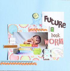future book worm - Scrapjazz.com