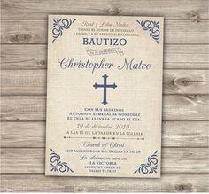 Española de bautismo para imprimir bautizo por cardmint en Etsy