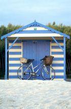 bike rides, blue, bicycl, beach houses, beach huts, beachhut, at the beach, beach shack, stripe