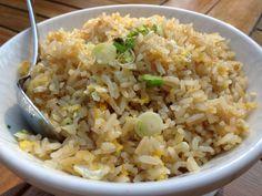 Egg fried rice at Habtoor Dubai — at Al Habtoor Hotel.Dubai